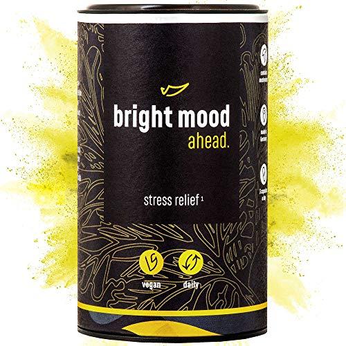 ahead® BRIGHT MOOD   Natürlicher Booster* mit Vitamin B6 für Stimmung, Wohlbefinden und Nervensystem*   L-Tryptophan, 5-HTP, Reishi, B12     90 vegane Kapseln
