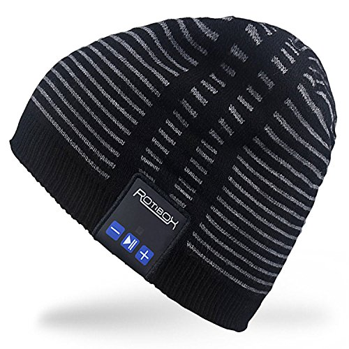 Al aire libre Rotibox Bluetooth Beanie Hat–música gorro Pom Pom...