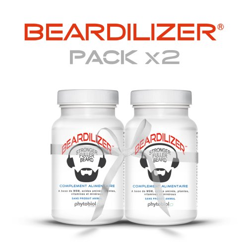 Beardilizer® - Erste Bartwuchs Lösung Für Männer (2-er Pack) - 180 Kapseln