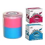 Verschiedene SPAR-SETS 2er bis 12er! ORIGINAL NASARA Kinesiologisches Physio Sport Tape in praktischer Box / Tape für Sport und Medizin Markenqualität von Nasara - 5cm x 5m (1x Blau 1x Pink, 2er Sparset exklusiv in Kinesio-Box)