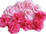 yycraft Pack de 30gasa flor 1,5'pelo flores headband-pink/caliente rosa