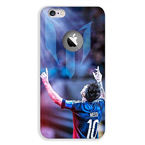 Apple iPhone 6 Logo cut Messi 10 Design printed hard plastic mobile phone case/cover by Red Hot Gifts and more