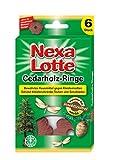 Nexa Lotte Cedarholzringe, Mottenschutz, Natürlicher Schutz vor Kleidermotten in Kleiderschränken, Schubladen und Truhen, 6 Ringe