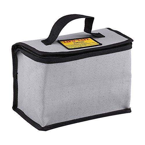 Dilwe Borsa Lipo, Lipo Battery Safe Bag Custodia di Sicurezza a Prova di Esplosione a Prova di Esplosione a Batteria per Proteggere la Custodia di Sicurezza 215x115x155mm