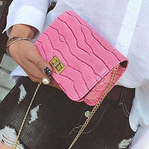 BZLine® Frauen Messenger Taschen Umhängetasche Tasche kleinen Körper Taschen Pink