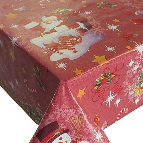Wachstuch Breite & Länge wählbar - Weihnachten Zuckerstange Rot- Größe ECKIG 110 x 200 bzw....