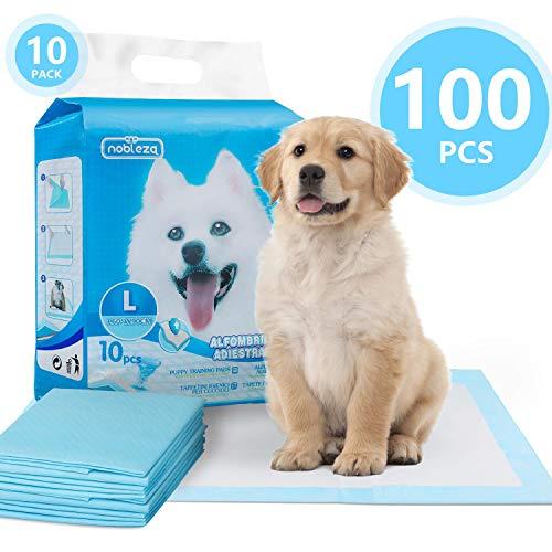 Nobleza - 100 pz Tappetini igienici per Cani, Misure 90 * 60cm, Tappetini assorbenti per Animali Domestici(10)