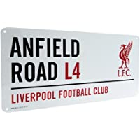 Liverpool Official Anfield Road L4 Metal Street Sign - Multi-Colour