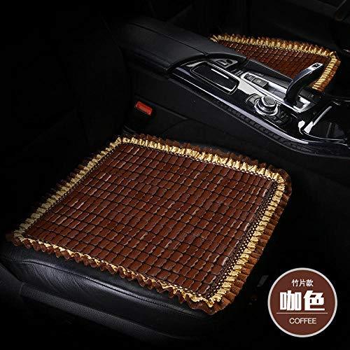 Preisvergleich Produktbild ypwsz Bambusmatte Auto Hauptauto auf dem Auto in der Beifahrerkühlung Sitz atmungsaktiv einzelne Bambusmatte / erste Reihe Prospekt - Kaffeefarbe
