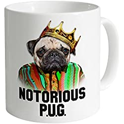 Goodie Two Sleeves Notorious Pug Taza