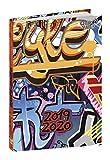 Quo Vadis Graffiti EUROTEXTAGENDA Agenda scolaire Journalier 12x17cm Année 2019-2020