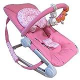 Transat balancelle luxe velours pour bébé - Rose