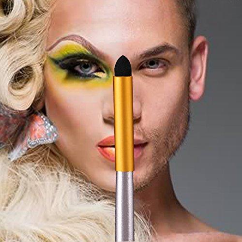 Domybest 12/18/24 pièces de laine Lot de pinceaux de maquillage avec sac en cuir
