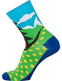 SpringInTheForest blau grün Sionyx Socken für Sport und Freizeit Fahrrad Bike