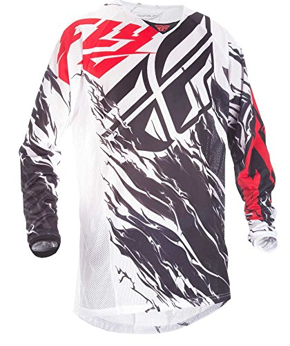 ike & Motocross Mesh Hemd schwarz-weiß-rot Fahrerhemd ()