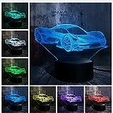 3D LED Nachtlicht Neuheit Coole Moderne Ferrari Auto 3D Led Nachtlicht 7 Farbwechsel Touch Roome Tischlampe Home Party Decor Junge Kinder Geburtstagsgeschenk