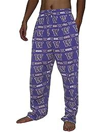 NCAA Mens Washington Huskies Cotton Sleepwear / Pajama Pants