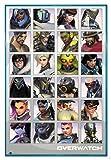 Overwatch Poster Character Portraits (94x63,5 cm) gerahmt in: Rahmen Türkis