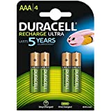 Duracell Recharge Ultra Piles Rechargeable type AAA 850 Mah, Lot de 4