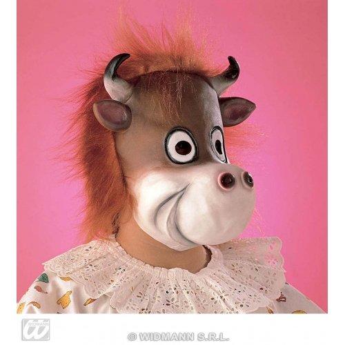 WIDMANN Kuhmaske mit Plüschhaar für Kinder, Halloween, Party, Masken, Augenmasken und Verkleidungen für Maskenade, Kostüm-Zubehör