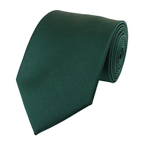 Fabio Farini 8 cm Krawatte in kräftigem Flaschengrün, Buisness, Anzug-Krawatte