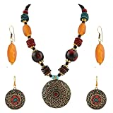 #3: Multi color Non-Precious Metal Fashion Tribal Tibetan Bead Necklace pendant and Earring Set Combo For Girls and Women (Gift)