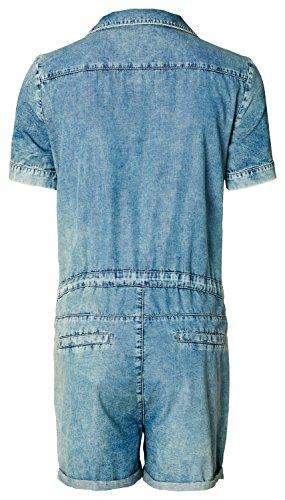 Noppies Damen Umstandsoverall Jumpsuit Dnm Nena Blau (Mid Blue C300)