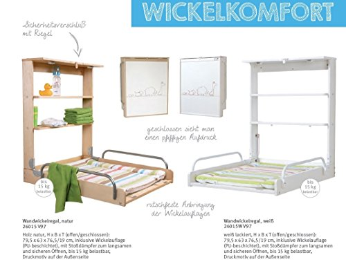 Roba 26015W V97 – Wandwickelregal, weiß - 7