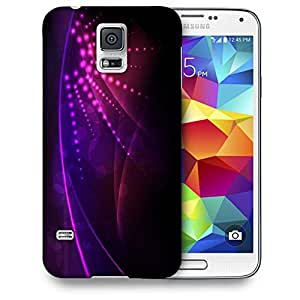 Snoogg Abstract Neon Design Printed Protective Phone Back Case Cover For Samsung S5 / S IIIII