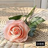 Jun7L Künstlich Rose Seide Rose Blumenstrauß Gefälschte Blume Hochzeit Dekoration Geburtstag Garten Party Blume 10Pcs Champagner B 43x7cm
