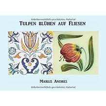Tulpen blühen auf Fliesen