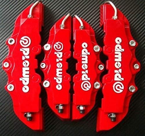 Strollway Personalizado Deslumbrante 4Pcs 3D Útil Coche Universal Freno de Disco Pinza Cubre Delantero y Trasero Herramientas de decoración de Coche (Rojo)