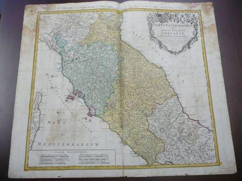Les Etats de L' Eglise & du Grand Duche de Toscane