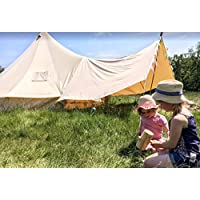 Canvas Bell Tent Awning 360 x 240 - 1 pole 28