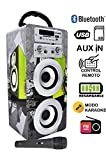 DYNASONIC Altavoz Karaoke Bluetooth 10W, Reproductor mp3...