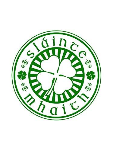 clothinx Damen T-Shirt Sláinte Mhaith St Patricks Day Weiß