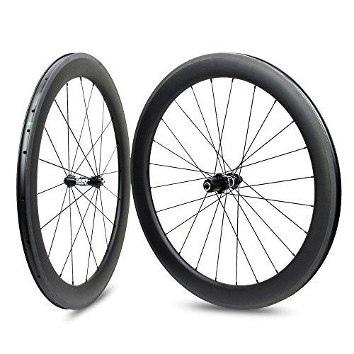 Yuanan 700C Road Bike Carbon Laufradsatz Drahtreifen Tubeless Stahlrohr Rad DT Swiss 350Hub Sapim CX Ray Speichen Shimano Oder SRAM -