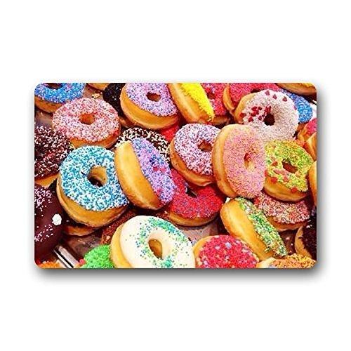 s Colorful Donuts Background Doormat/Gate Pad Outdoors/Indoor Bathroom Kitchen Decor Area Rug/Floor Mat 23.6 X 15.7 Inch ()
