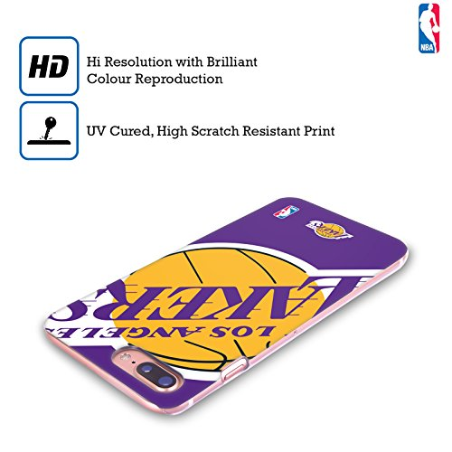 Ufficiale NBA Marmo B&N Los Angeles Lakers Cover Retro Rigida per Apple iPhone 6 / 6s Icona Oversize