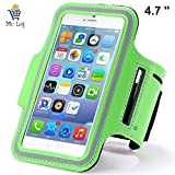 Mc Loj™ Water Proof Hand Fitness Gym Case Arm Band for Jogging Armband for All Phones up to 4.7 inches screens like iPhone, Sony, Xiaomi Samsung Moto G- Green
