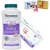 Himalaya Herbals Baby Powder (400g)+Himalaya Herbals Gentle Baby Wipes (12 Sheets) With Happy Baby Luxurious Kids Soap With Toy (100gm)