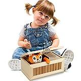 SIVED Cartoon Creative Nicht Tiger Useless Box, lustige Spielzeug Geschenk für Jungen und Kinder interaktives Spielzeug Stress-Reduktion Schreibtisch Dekoration berühren (Gelb)