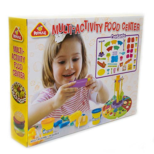UMOI Spielknete, Kreativ-Set, Kinderknete, super soft Knete, Junior Knete (Multi-Activity Food Center)