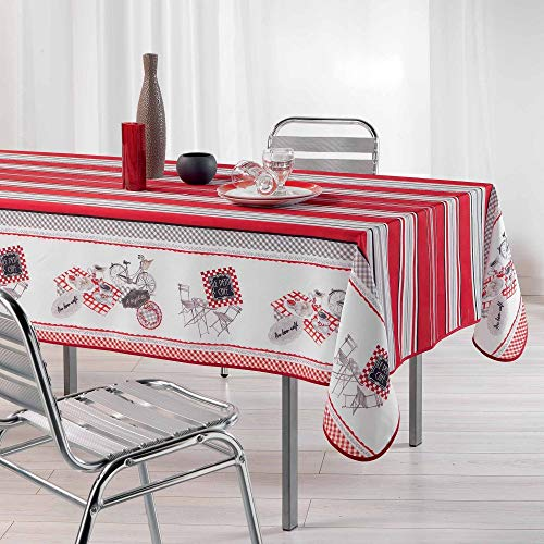 Nappe anti-tache - Rectangle - 150 x 200 cm - Bistrot chic