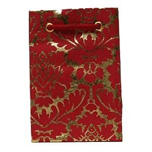 Petit sac cadeau en Papier Motif rouge foncé Lot de 10 sacs