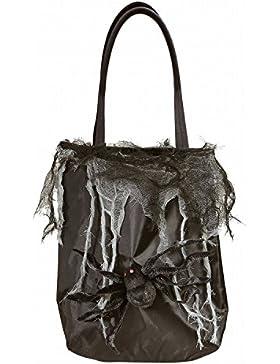 Widmann 01427 - Handtasche mit Spinne und ausgefranstem Netzgewebe