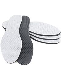 MAROL Aktivkohle Einlegesohlen gegen Schweißfüße Schuheinlagen Grau - 4 Paare Größe 36-46