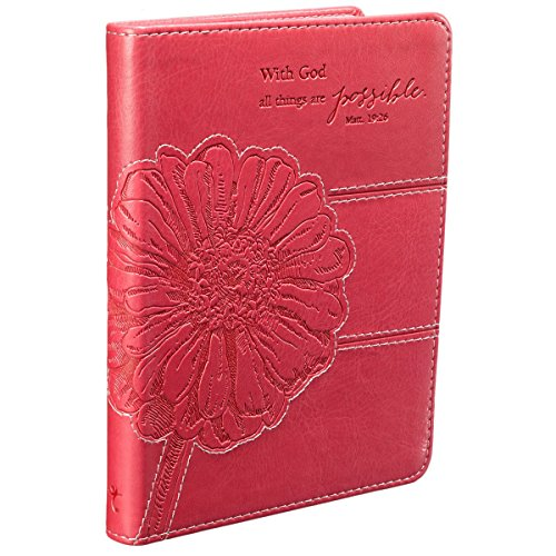 With God All Things Are Possible Journal: Pink by Christian Art Gifts (Designer) (1-Jan-2014) Imitation Leather