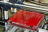 3D impresora climatizada cama vidrio borosilicato placa panel Cama templado de vidrio de borosilicato de placa impresora 3D MK2 climatizada 213*200*3mm