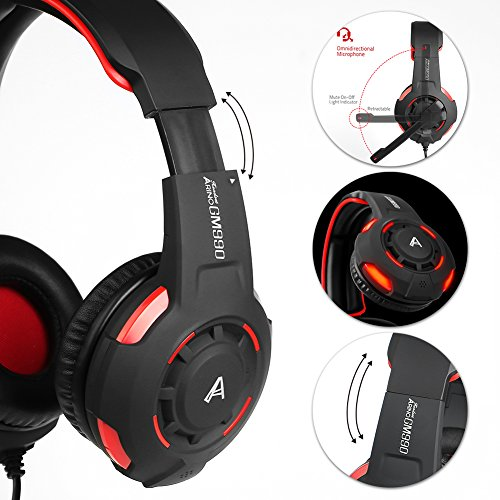 ARINO GM990 Cuffie Gamer Headset Gioco Video Cuffia con LED per ... 3446741bb12b